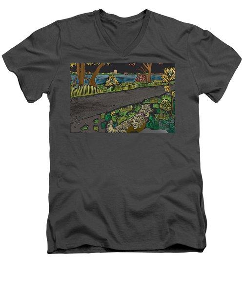 Charlie On Path Men's V-Neck T-Shirt