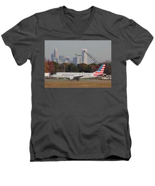 Charlotte Douglas International Airport 22 Men's V-Neck T-Shirt