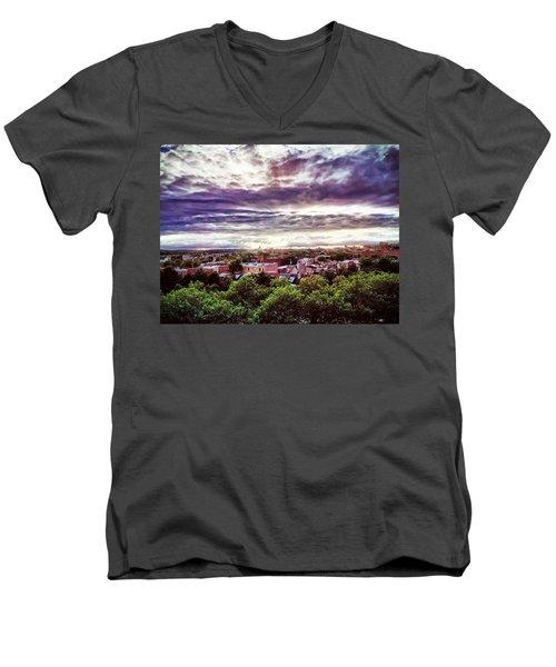 Charm City Sunset Men's V-Neck T-Shirt
