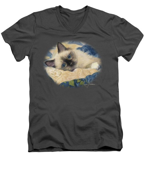 Charming Men's V-Neck T-Shirt by Lucie Bilodeau