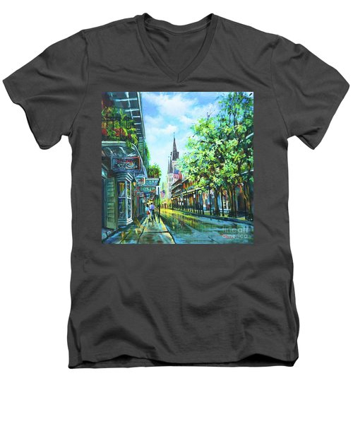 Chartres Afternoon Men's V-Neck T-Shirt