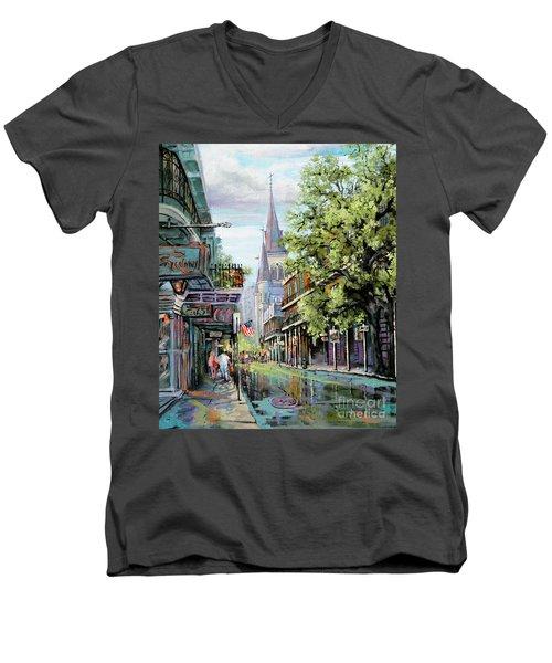 Chartres Rain Men's V-Neck T-Shirt