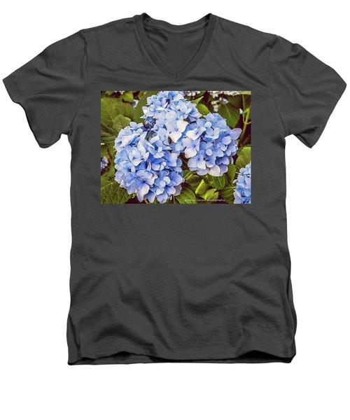 Chase Away The Blues Men's V-Neck T-Shirt by Nance Larson