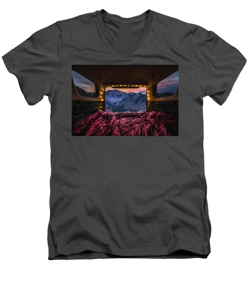 Chasing Sunset Men's V-Neck T-Shirt by Alpha Wanderlust