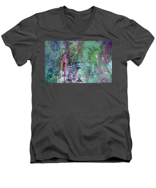 Chasing The Dream - Contemporary Colorful Abstract Art Painting Men's V-Neck T-Shirt