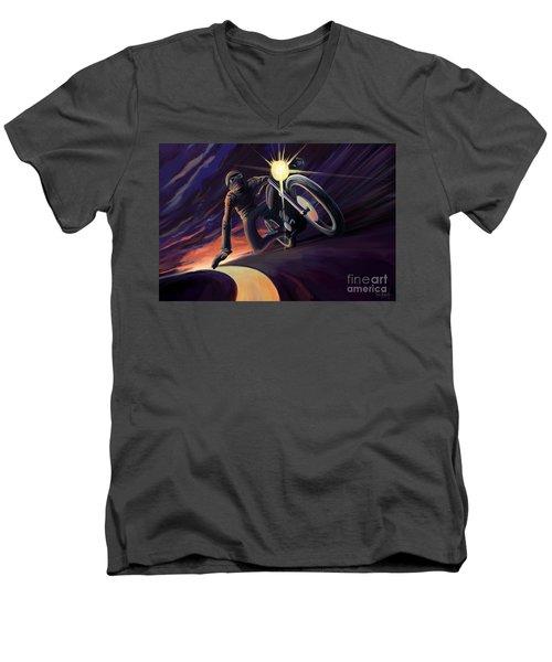 Chasing The Line Speed Racer Men's V-Neck T-Shirt