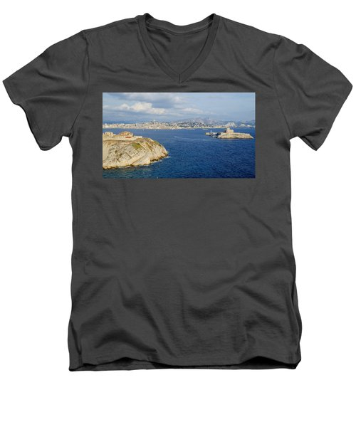 Chateau D'if-island Men's V-Neck T-Shirt