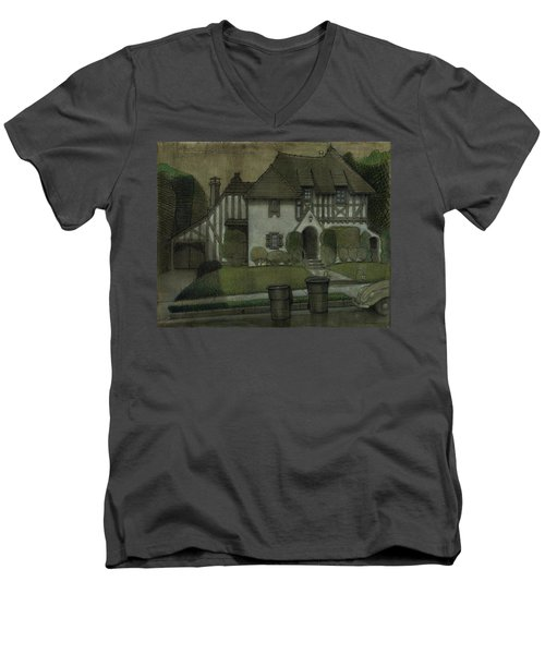 Chateau In The City Men's V-Neck T-Shirt