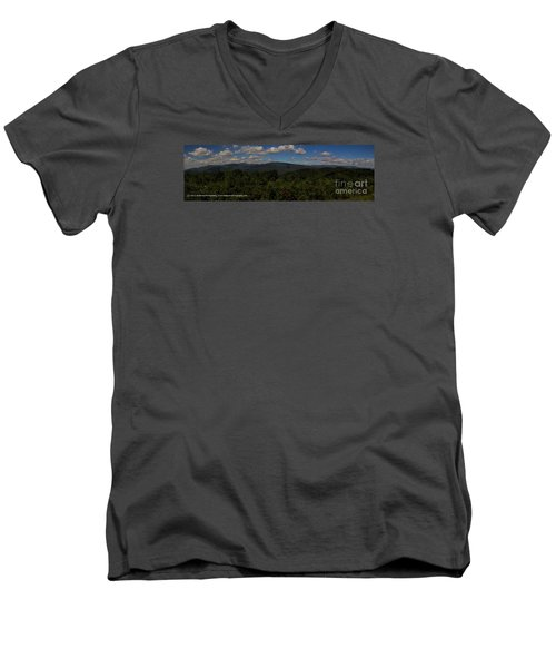 Chattahoochee Forest Overlook Men's V-Neck T-Shirt by Barbara Bowen