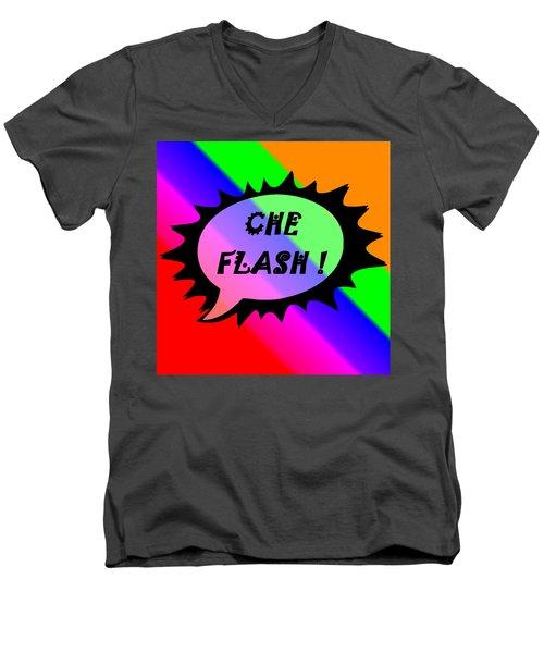 Che Flash Men's V-Neck T-Shirt
