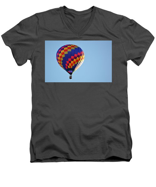 Checkerboard Men's V-Neck T-Shirt
