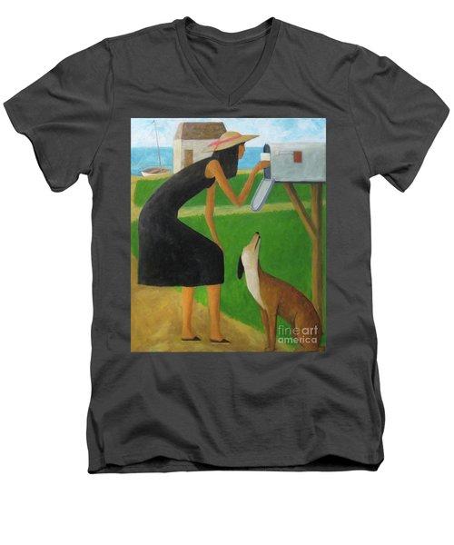 Checking The Box Men's V-Neck T-Shirt by Glenn Quist