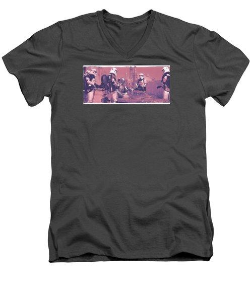 Checkpoint Men's V-Neck T-Shirt by Kurt Ramschissel