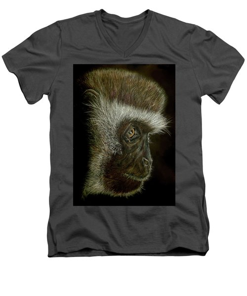 Cheeky Monkey Men's V-Neck T-Shirt