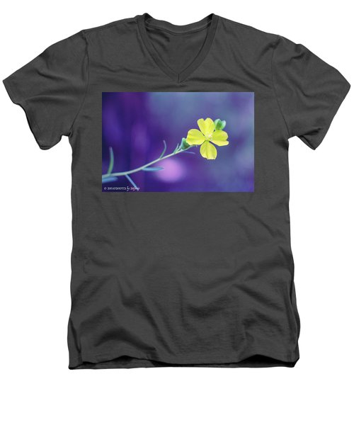 Cheer Up Buttercup Men's V-Neck T-Shirt by Stefanie Silva