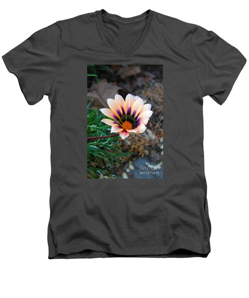 Cheerful Flower Men's V-Neck T-Shirt