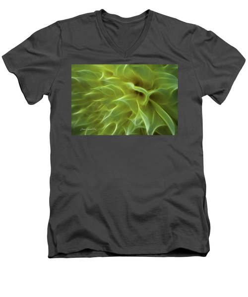 Cheery Chrysanthemum Men's V-Neck T-Shirt by Joann Copeland-Paul