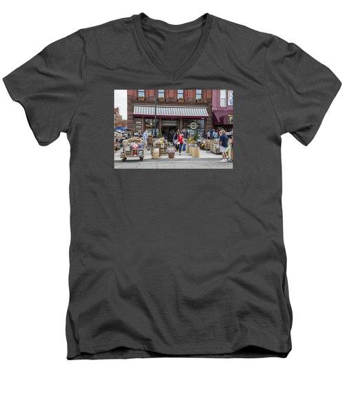 Cheese Shop In Detroit  Men's V-Neck T-Shirt by John McGraw