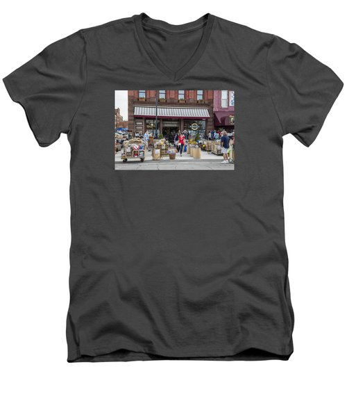 Cheese Shop In Detroit  Men's V-Neck T-Shirt