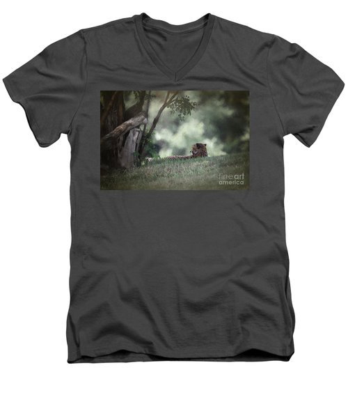Cheetah On Watch Men's V-Neck T-Shirt