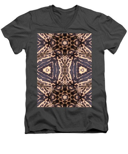 Cheetah Print Men's V-Neck T-Shirt
