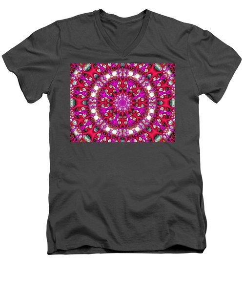 Men's V-Neck T-Shirt featuring the digital art Chemistry by Robert Orinski