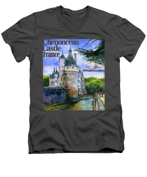 Chenonceau Castle Shirt Men's V-Neck T-Shirt