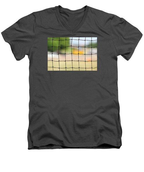 Chequered Present Bleak Future Men's V-Neck T-Shirt by Prakash Ghai