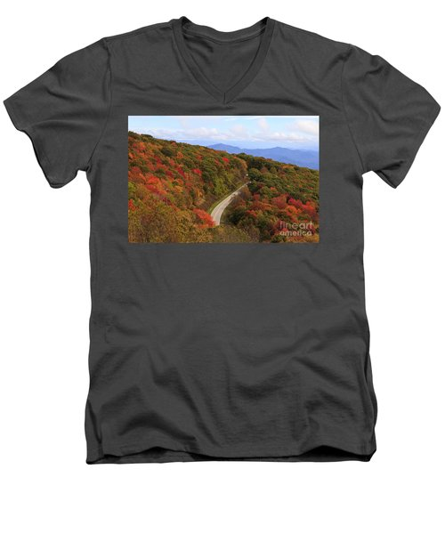 Cherohala Skyway In Nc Men's V-Neck T-Shirt