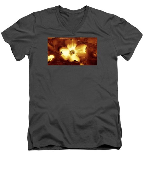 Cherokee Rose Dogwood - Single Glow Men's V-Neck T-Shirt