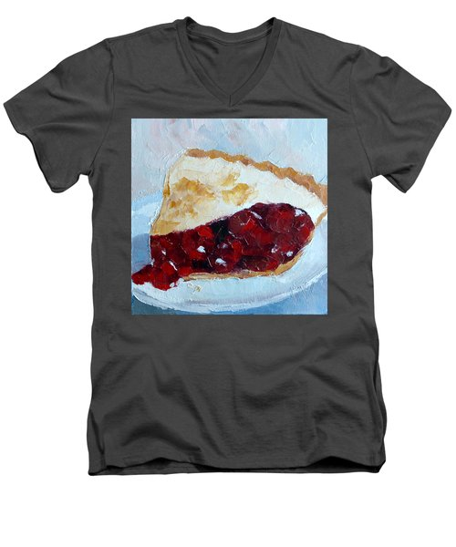 Cherry Pi Men's V-Neck T-Shirt