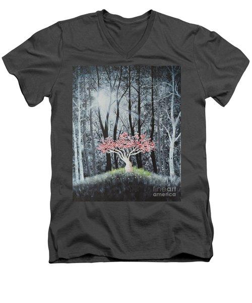 Cherry Surprise Men's V-Neck T-Shirt