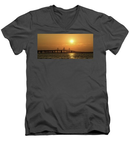 Chesapeake Bay Bridge Sunset I Men's V-Neck T-Shirt