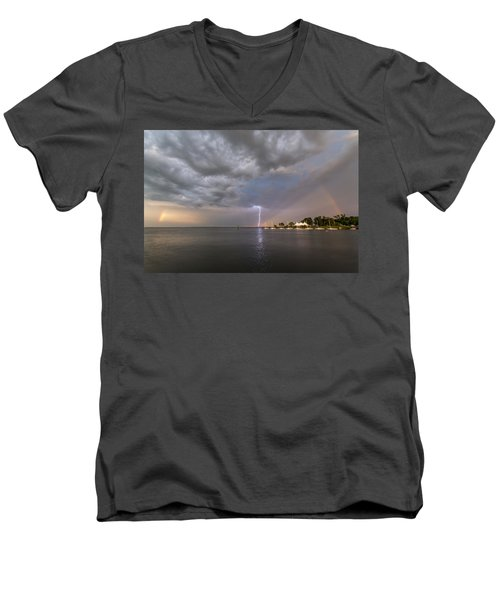 Chesapeake Bay Rainbow Lighting Men's V-Neck T-Shirt