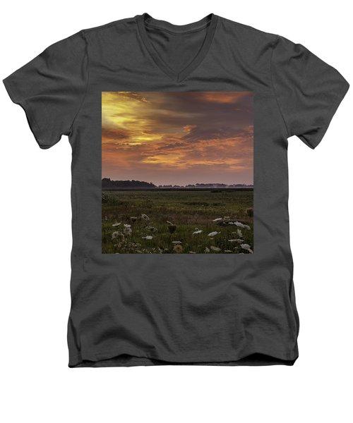 Chesapeake Sunrise II Men's V-Neck T-Shirt by David Cote