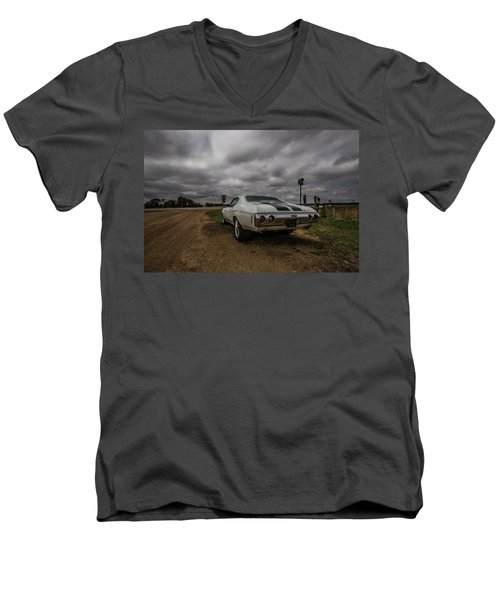 Men's V-Neck T-Shirt featuring the photograph Chevelle Ss by Aaron J Groen