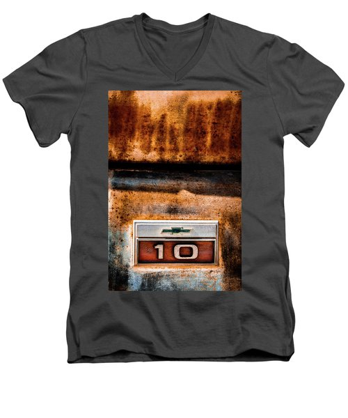 Chevy C10 Rusted Emblem Men's V-Neck T-Shirt