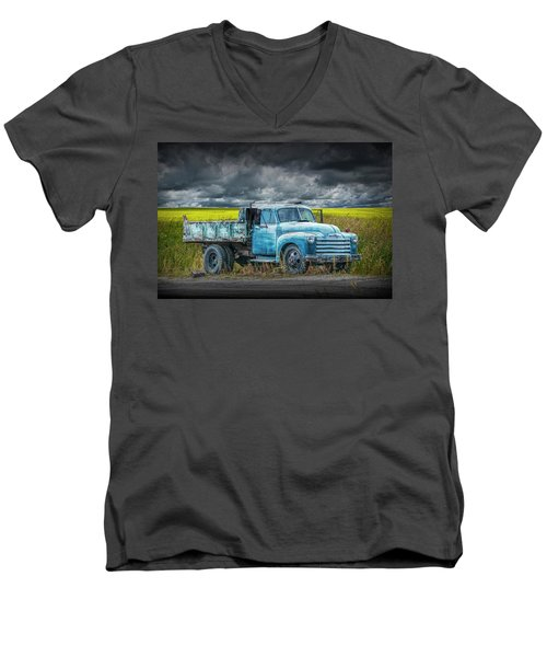 Chevy Truck Stranded By The Side Of The Road Men's V-Neck T-Shirt