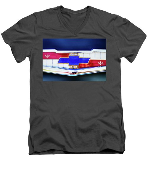 Chevy's Fifties Bowtie Men's V-Neck T-Shirt