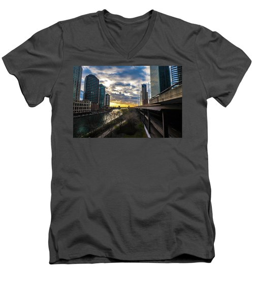 Chi Sunrise 2 Men's V-Neck T-Shirt
