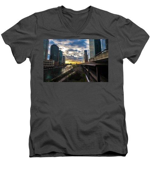 Chi Sunrise 2 Men's V-Neck T-Shirt