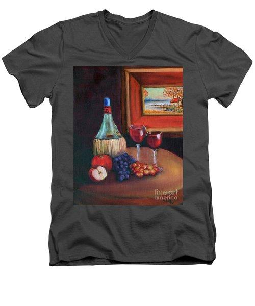 Chianti Still Life Men's V-Neck T-Shirt