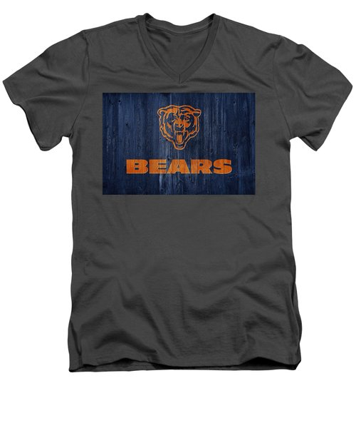 Chicago Bears Barn Door Men's V-Neck T-Shirt by Dan Sproul