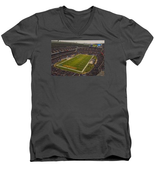 Chicago Bears Soldier Field 7795 Men's V-Neck T-Shirt