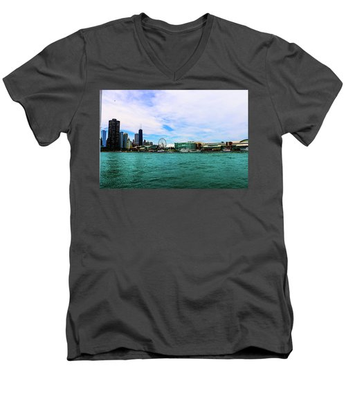 Chicago Blue Men's V-Neck T-Shirt