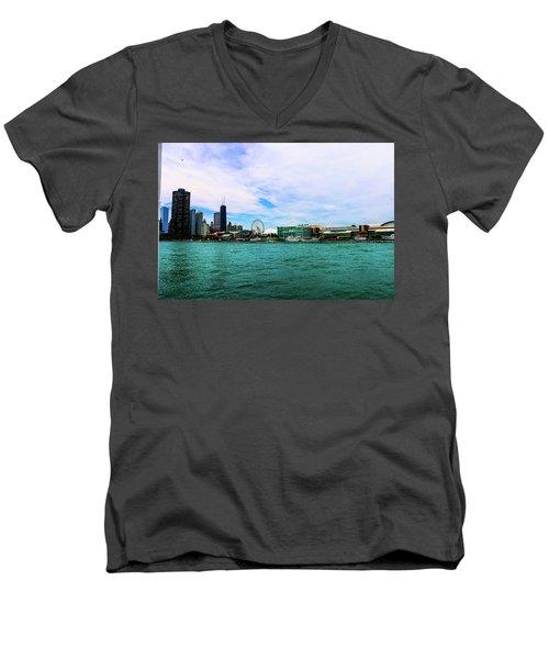 Chicago Blue Men's V-Neck T-Shirt