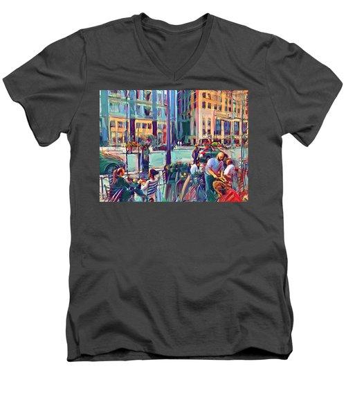Chicago Cafe Men's V-Neck T-Shirt