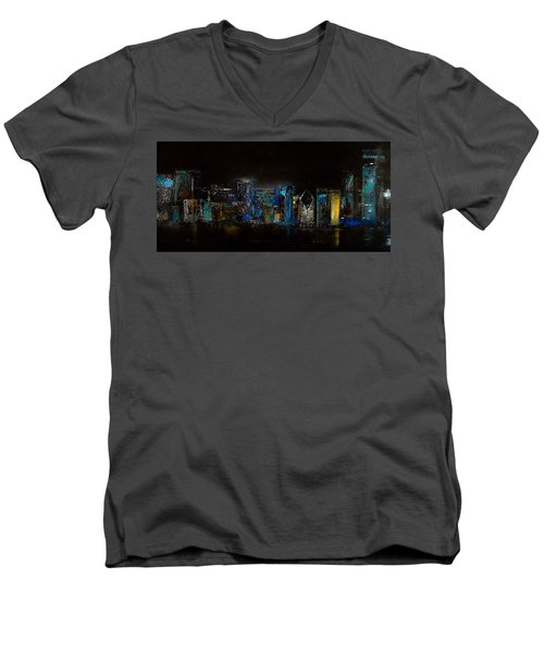 Chicago City Scene Men's V-Neck T-Shirt