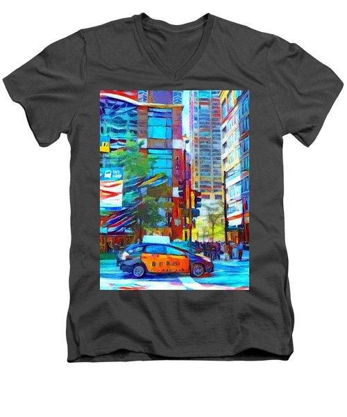 Chicago Colors 1 Men's V-Neck T-Shirt