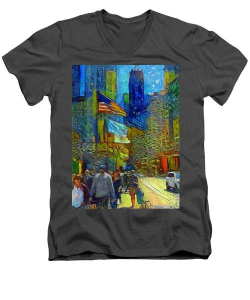 Chicago Colors 2 Men's V-Neck T-Shirt